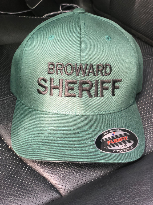 LEO Broward Sheriff (BSO) Fitted Hat (Green Hat with Black Lettering)