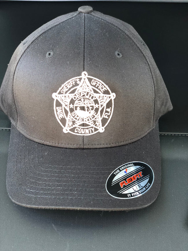 4705984badc LEO Miami Dade Police Fitted Hat with Sheriff badge (Black Hat)