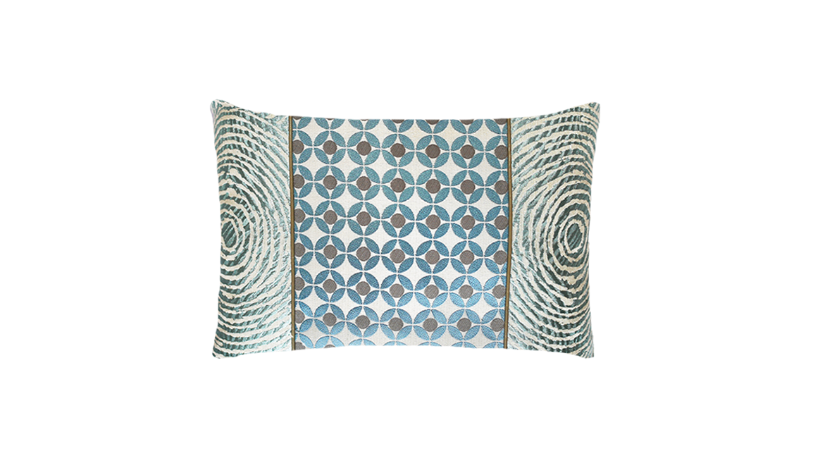 Ice Circle Ripple Throw Pillow Cover
