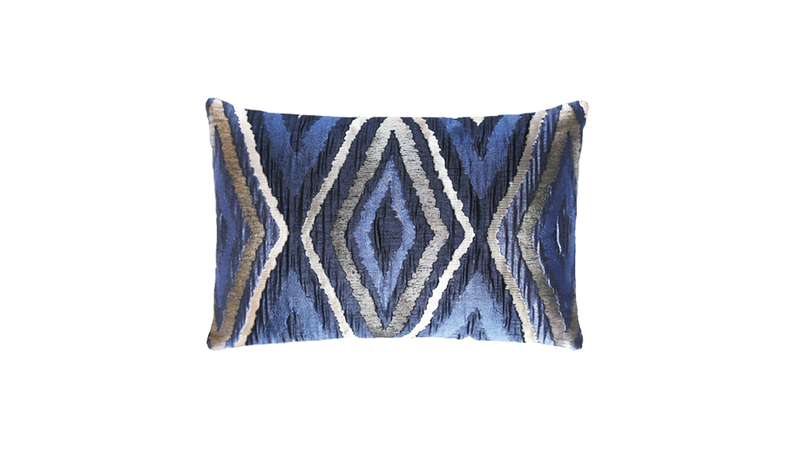 Metallic Navajo Panel Throw Pillow Cover