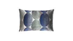 Metallic Spheres Panel Throw Pillow Cover