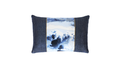 Navy Storm Throw Pillow Cover