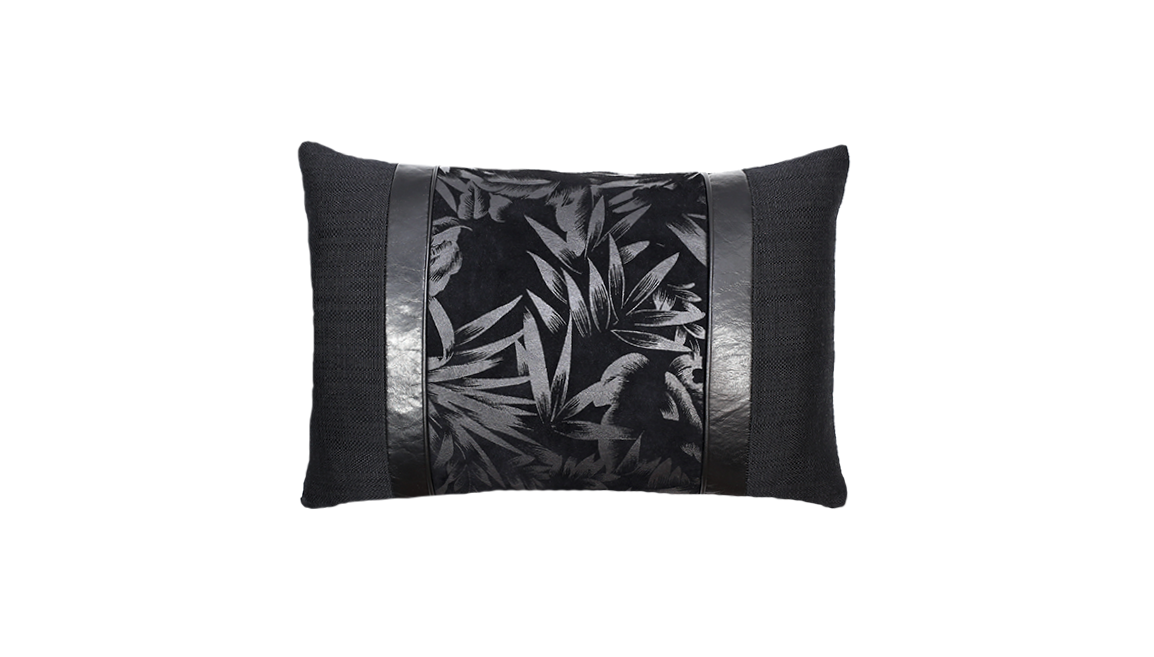 Noir Bamboo Throw Pillow Cover