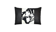 Winter Palm Black Studded Throw Lumbar Pillow Cover