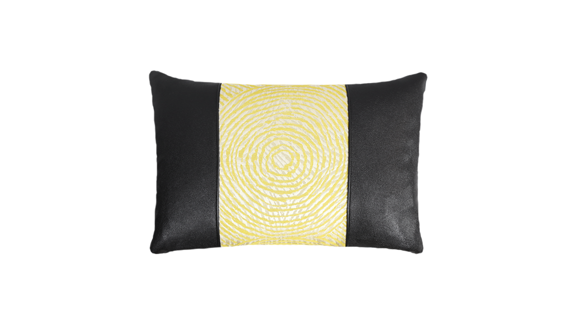 Noir Ripple Throw Pillow Cover