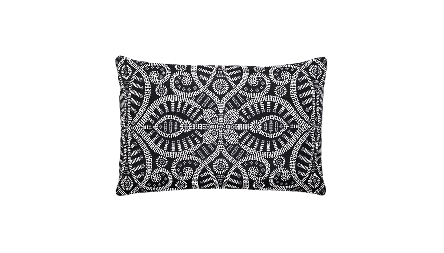 Noir Ignis Throw Lumbar Pillow Cover