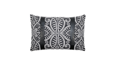 Noir Ignis Strap Throw Lumbar Pillow Cover