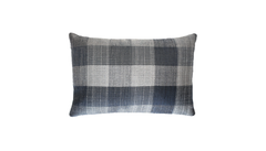 Charcoal Plaid Throw Pillow Cover
