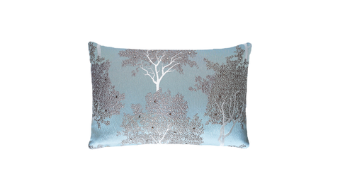 Ice Trees Studded Throw Lumbar Pillow Cover