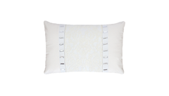 Snow White Lace Studded Stripes Throw Pillow Cover