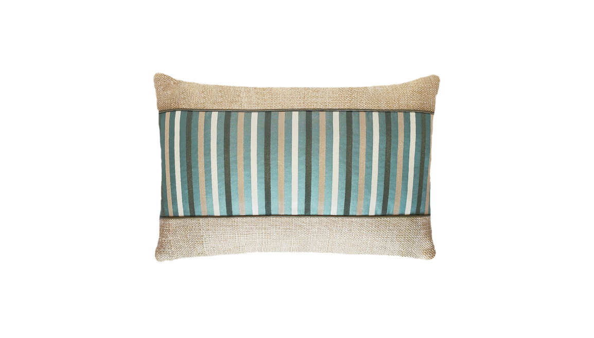Ice Thin Stripe Panel Throw Pillow Cover