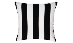 Black Stripe Throw Pillow Cover