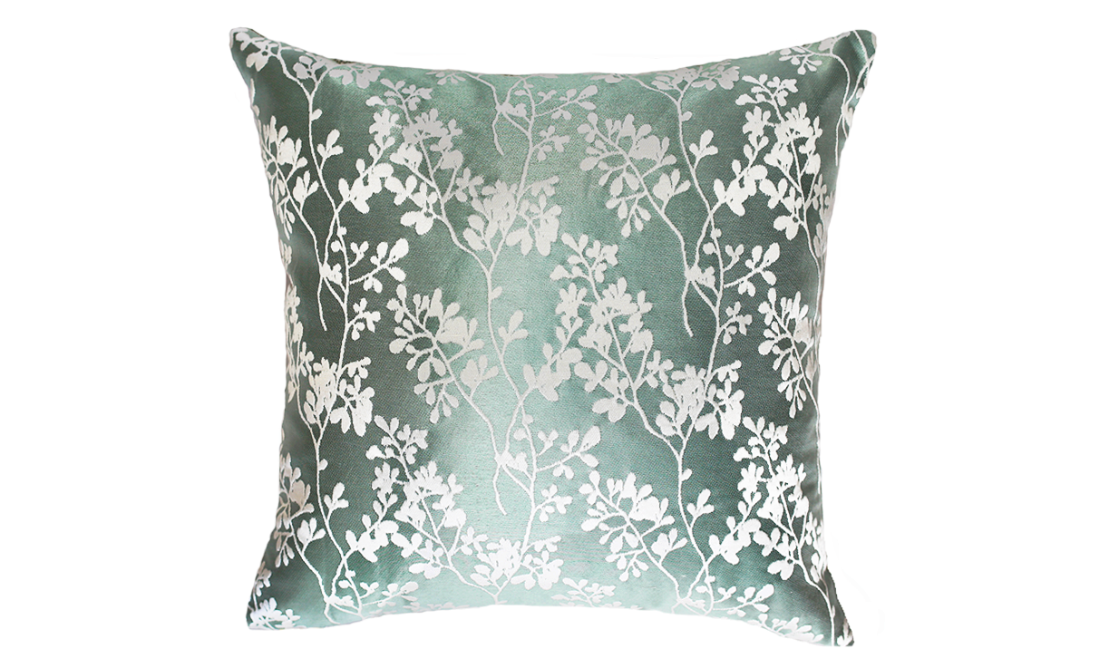 Ice Floral Throw Pillow Cover