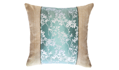 Ice Floral Panel Throw Pillow Cover