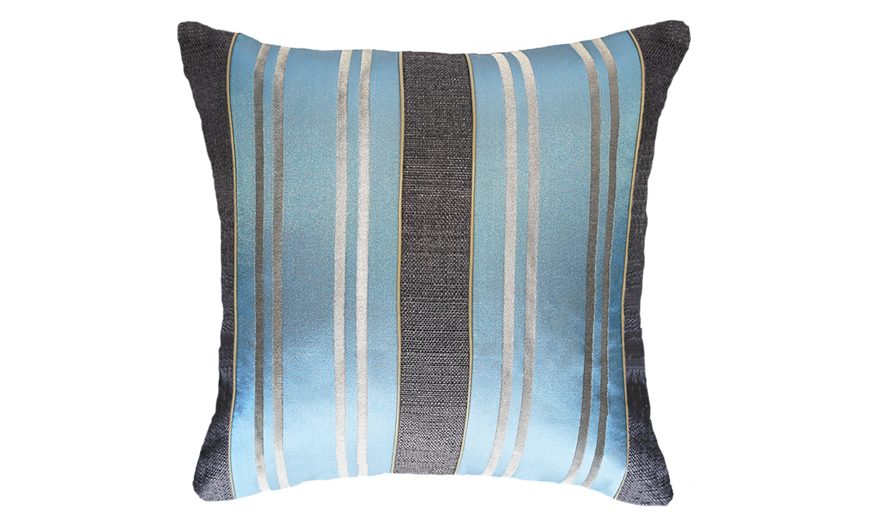 Ice Stripe Panel Throw Pillow Cover