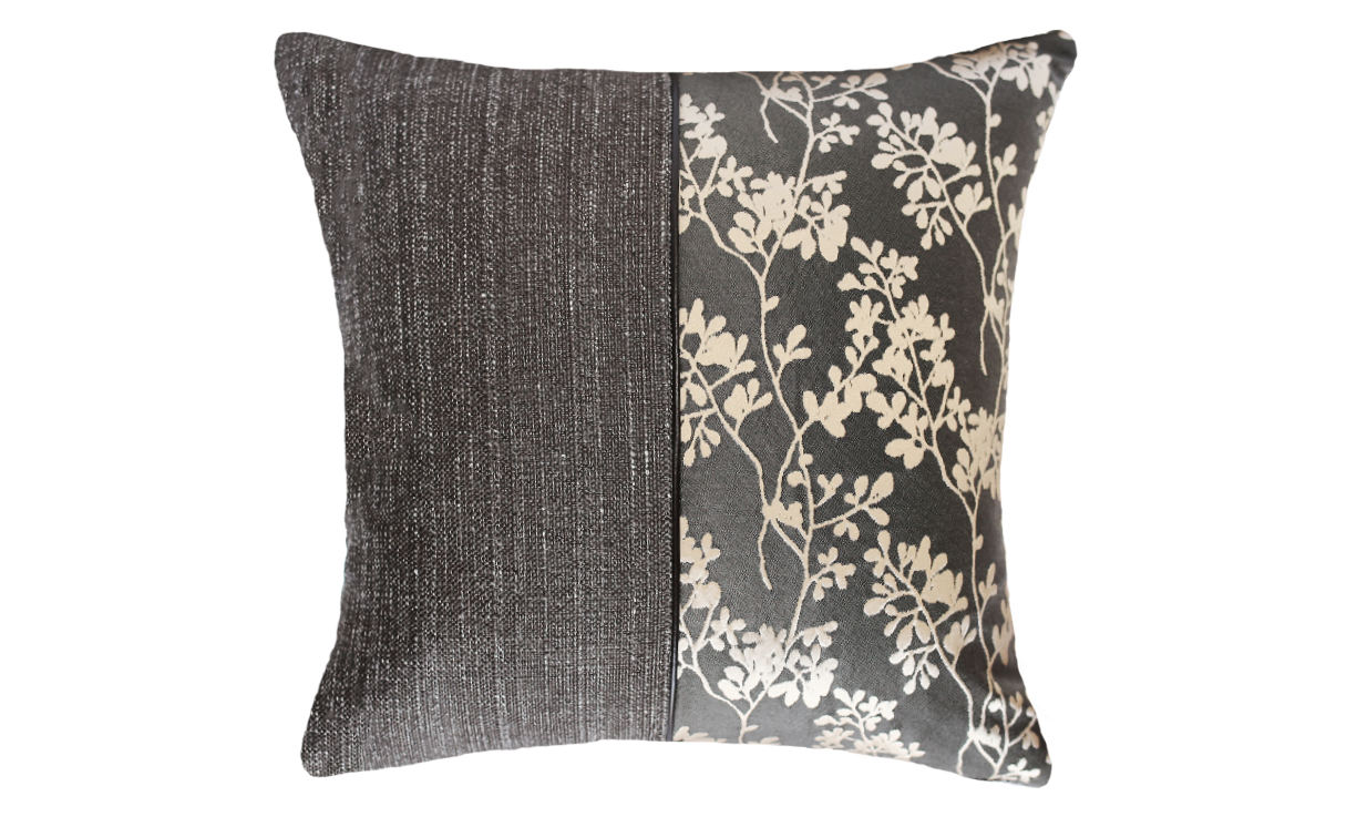 Ebony Jasmine Half Throw Pillow Cover