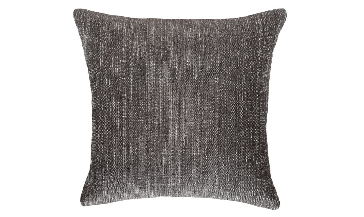 Ebony Jasmine Bark Half Throw Pillow Cover