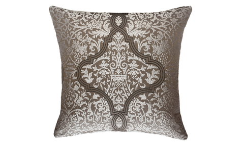 Light Damask Throw Pillow Cover
