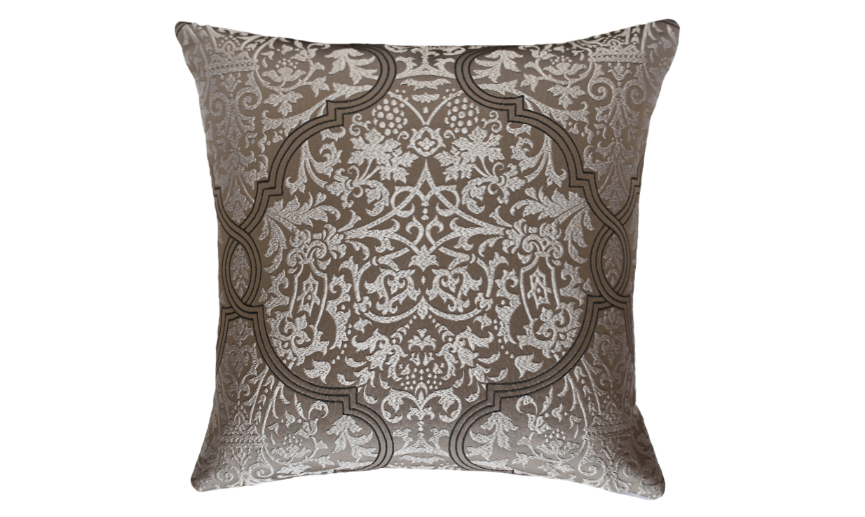Dark Damask Throw Pillow Cover