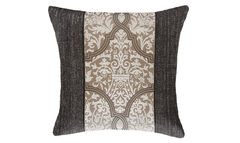 Dark Mocha Damask Throw Pillow Cover