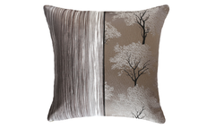 Dark Ebony Tree Bark Half Throw Pillow Cover