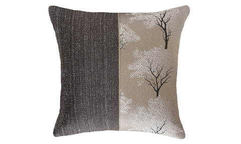 Dark Ebony Tree Half Throw Pillow Cover