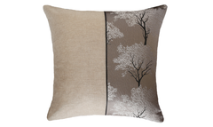 Light Ebony Tree Half Throw Pillow Cover