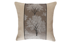 Light Ebony Tree Throw Pillow Cover