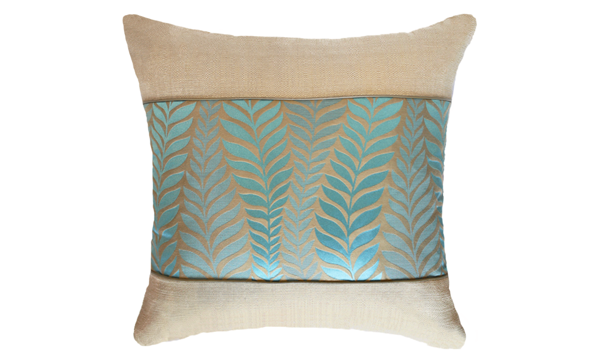 Ice Fern Panel Throw Pillow Cover