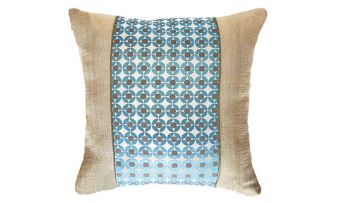 Ice Circle Panel Throw Pillow Cover