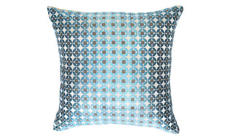 Ice Circle Throw Pillow Cover
