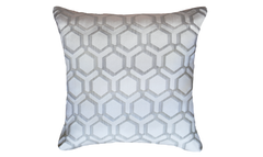 Ivory Honeycomb Throw Pillow Cover