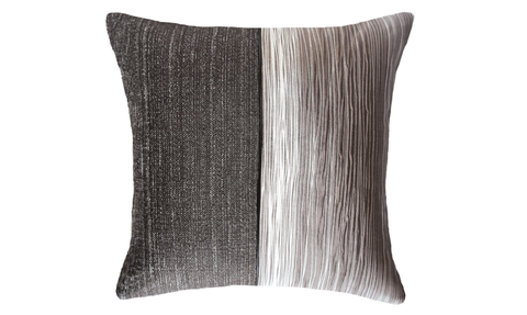 Dark Bark Half Throw Pillow Cover