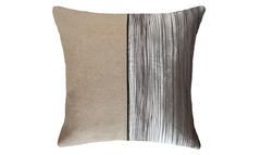 Light Bark Half Throw Pillow Cover