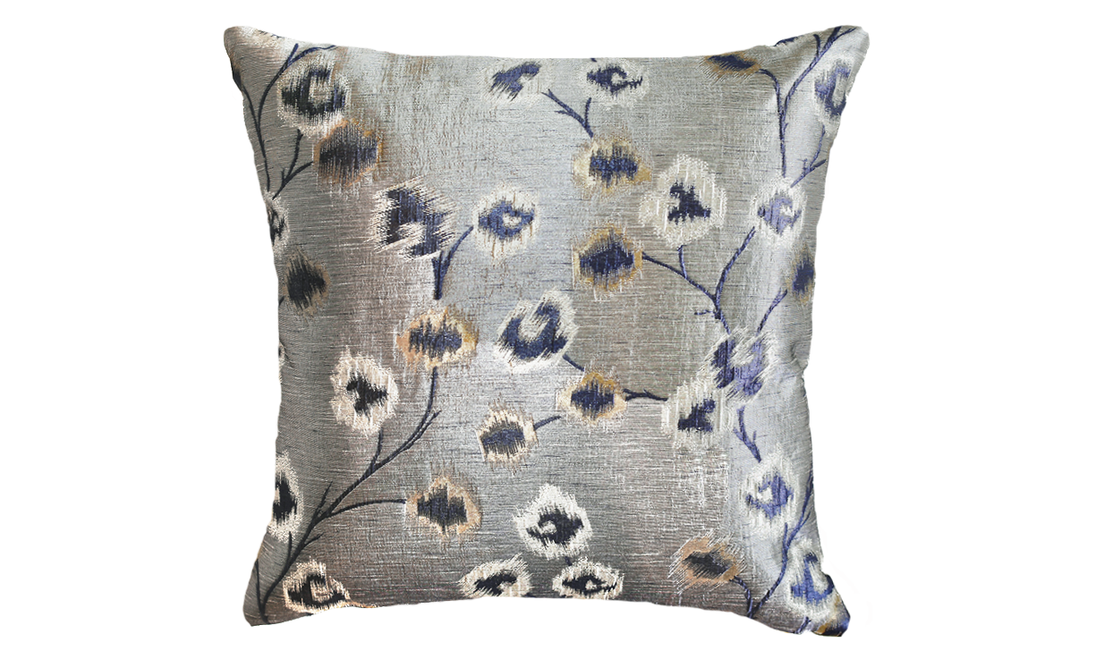 Metallic Blossoms Throw Pillow Cover