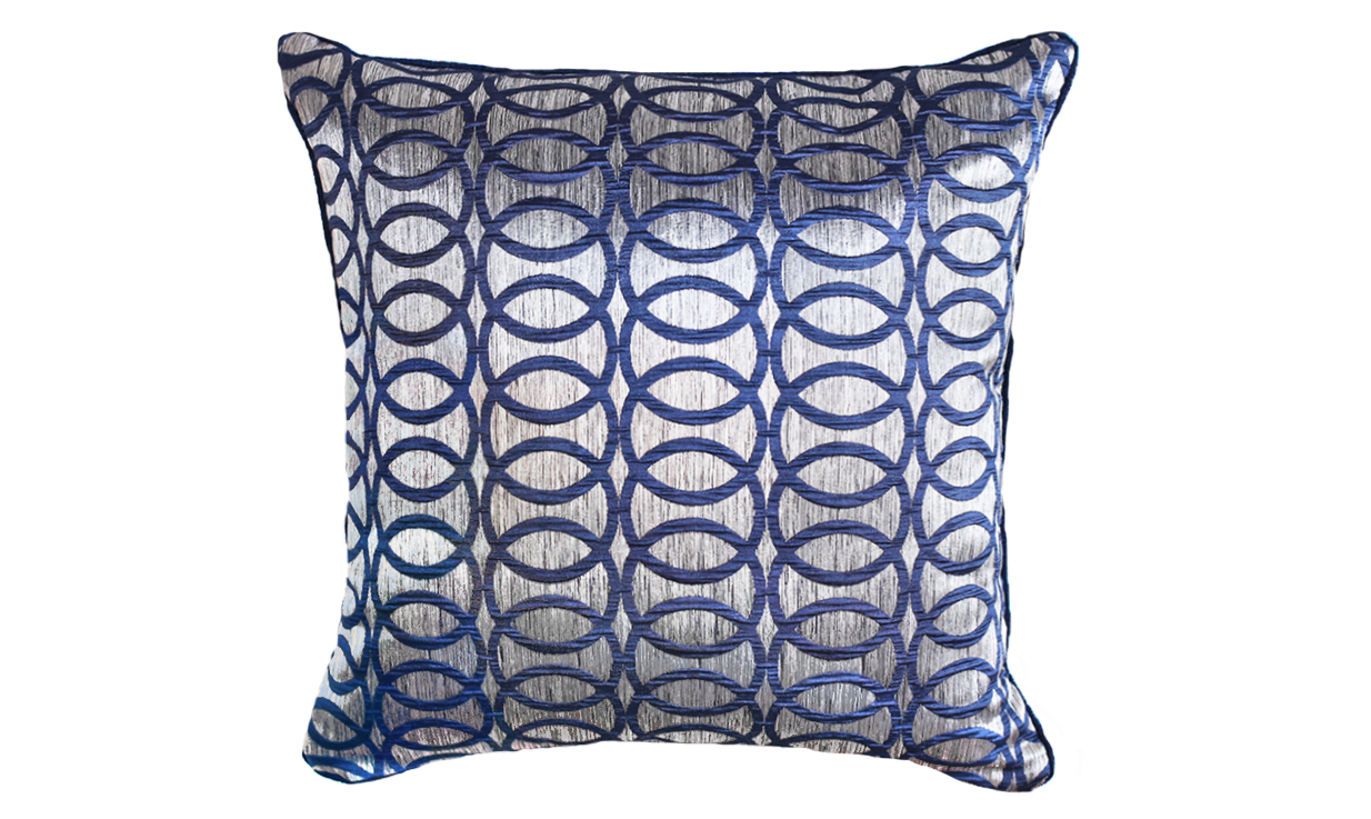 Metallic Links Throw Pillow Cover