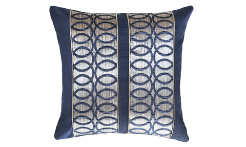 Metallic Links Panel Throw Pillow Cover
