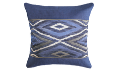 Metallic Navajo Center Panel Throw Pillow Cover