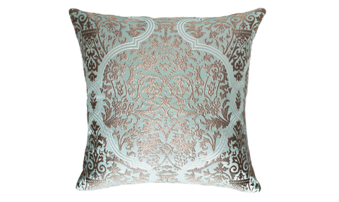 Ice Damask Throw Pillow Cover