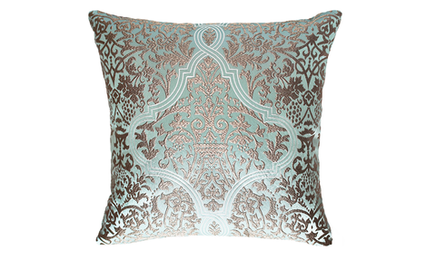 Ice Damask Star Throw Pillow Cover