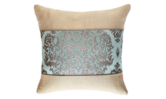 Ice Damask Panel Throw Pillow Cover