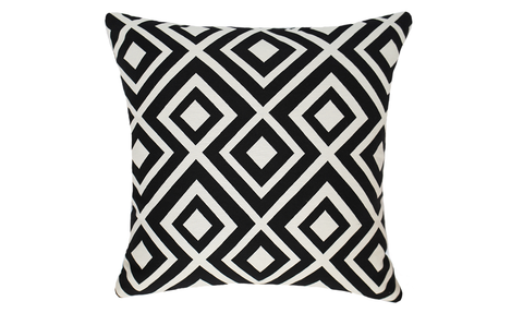 Contrast Diamond Throw Pillow Cover