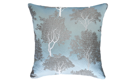 Ice Trees Throw Pillow Cover