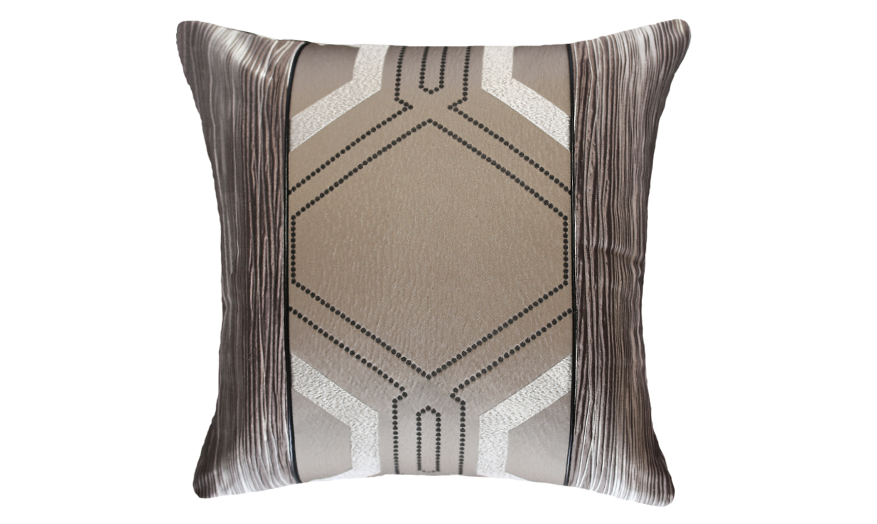 Dark Deco Bark Throw Pillow Cover