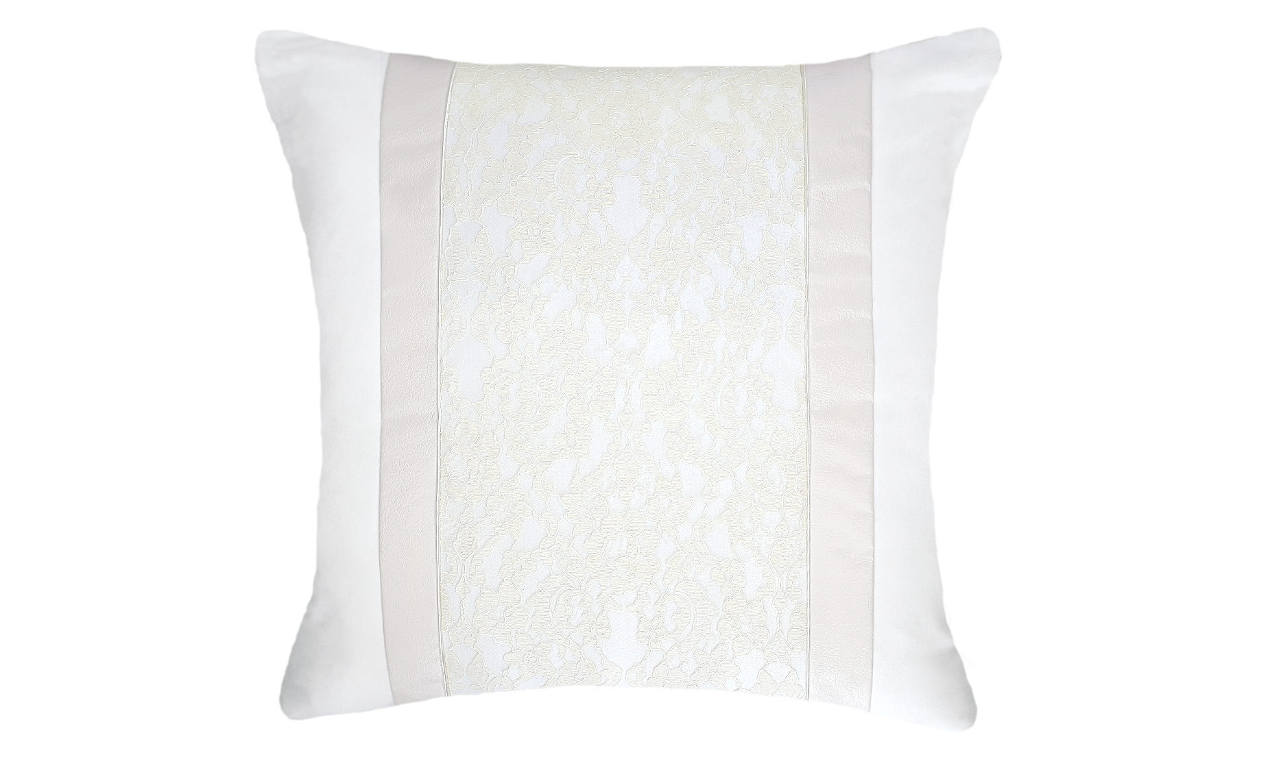Snow White Lace Throw Pillow Cover
