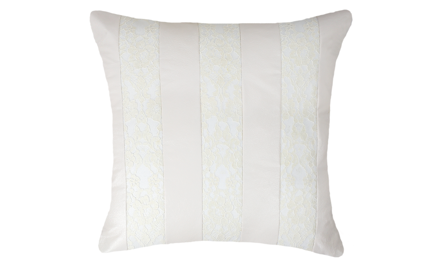 Snow White Lace Stripes Throw Pillow Cover