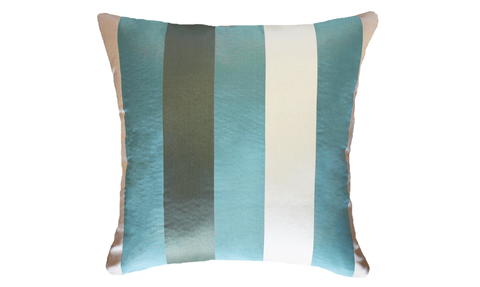 Ice Wide Stripe Throw Pillow Cover