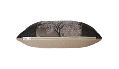 Dark Ebony Tree Throw Pillow Cover