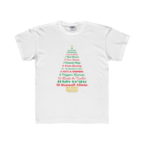 A Tree List of Days - New Mexico Twelve Days of Christmas (Youth Tee)