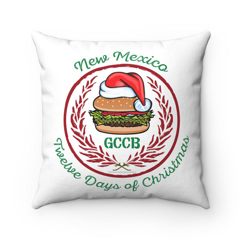 A Santa Hat GCCB with Chile Wreath - New Mexico Twelve Days of Christmas (Pillow)